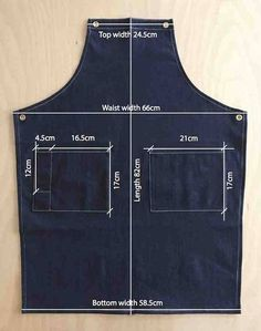 Black Cotton Leather Apron - Best Sewing Tips Sewing Aprons, Sewing Clothes, Diy Clothes, Denim Aprons, Diy Jeans, Jean Diy, Jean Apron, Barber Apron, Shop Apron