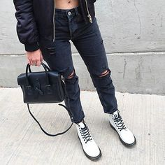 Trendy Fashion Style Women's Clothing Online Shopping - SHOP NOW !         Docs and ripped denim.💣🐼🖤 #lastnight #fallfashion #ootd #ootn #wiw #wiwt #whatiwore #whatiworetoday #lotd #lookoftheday #ootdshare #ootdwatch #outfitpost #fashiongram #stylegram #fashionstyle #instastyle #blogger #styleblogger #style #styleblog #streetstyle #streetwear #streetfashion #fashion #instafashion #fashionblogger #fashionblog #fblogger…