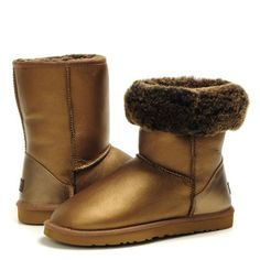 Cheap UGG Boots 5842 Metallic Brown Classic Short For Women Black Friday and Cyber Monday