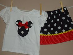 Disney Inspired Traditional Minnie Mouse Outfit