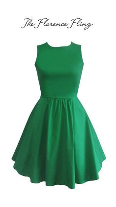 Juana Ballerina Dress in Green  Our favorite staple ballerina dress uses cotton stretch fabric and has hidden side pockets. The fit is absolutely amazing! A style you'd definitely want to wear again and again!  P2995