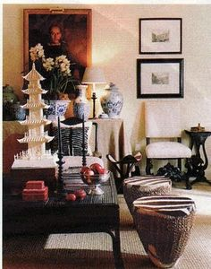 WSH loves how Mary McDonald shows the collection of travels. Via Chinoiserie Chic.