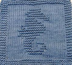 Knitting Cloth Pattern - SEAHORSE - PDF