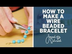 How to Make a Wire Beaded Bracelet, Jewelry On this episode of Jewelry Susan shows you how to make your own beaded bracelet at home. You can buy these supplies online here: . Find your beads here: https: Wrap Bracelet Tutorial, Beaded Bracelets Tutorial, Diy Bracelets Easy, Handmade Bracelets, Necklace Tutorial, Beaded Necklaces, Handmade Jewellery, Making Bracelets With Beads, Friendship Bracelets With Beads
