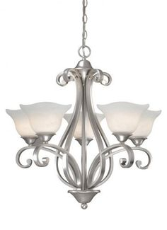 Vaxcel USA Lighting CS-CHU005BN, Caspian 5 Light Chandelier Lighting Fixture, Nickel, Glass, B7546 by Vaxcel Lighting, http://www.amazon.com/dp/B0038ASPJC/ref=cm_sw_r_pi_dp_ofLZqb02FAYAE