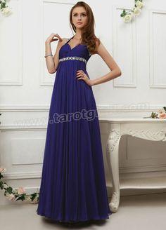Chiffon Sweetheart Swarovski Crystals and Jewels Bodice Full Length A-line Prom Dress