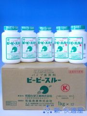 ピーピースルーK箱売り (業務用排水管洗浄剤) 《水用》 《1kg×12本》【送料無料】