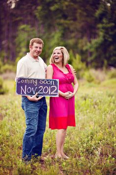 Pregnancy Announcement Photo! Loved this moment!