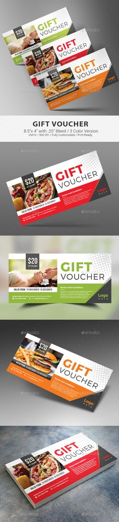 Fashion Gift Voucher 2 Print templates, Template and Gift