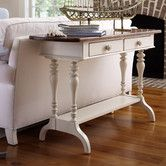 Found it at Wayfair - Coastal Living Storage Console Table  Love this table, perhaps behind the sofa in family room in different finish?