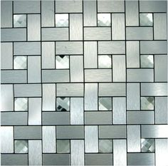 Smart Tiles 6 Pack White, Silver Composite Vinyl Mosaic Subway Peel And  Stick Wall Tile (Common: 10 In X 10 In; Actual: 10 In X 10.13 In) |  Pinterest ...