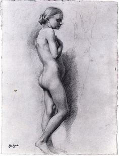 early Degas drawing