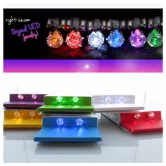 Night Ice come in 6 different colors! Red, yellow, blue, white, green, and purple! Which one is your favorite?