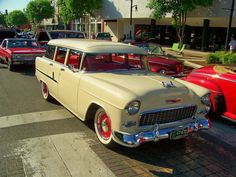 Click this image to show the full-size version. 1955 Chevy, 1955 Chevrolet, Chevrolet Corvette, Cool Old Cars, Fancy Cars, General Motors, Old Trucks, Chevy Trucks, Bel Air
