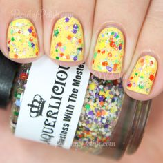 Laquerlicious Ghostess With The Mostess | Halloween 2014 Collection | Peachy Polish #glitter topper