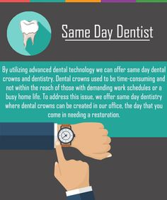 same day dentistry where dental crowns can be created in our office, the day you come in needing a restoration.offer same day dentistry where dental crowns can be created in our office, the day you come in needing a restoration. Dental Hygiene, Dental Health, Oral Health, Dental Care, Dental Quotes, Dental Facts, Herbalife, Office Color, Health And Wellness