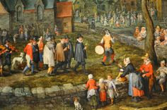 Jan Breughel the Elder, The Country Wedding (detail), c. Museu Nacional de Arte Antiga, Lisbon - temporary exhibition - Northern landscape from Museo del Prado Paintings I Love, Beautiful Paintings, Mad Movies, 16th Century Clothing, Dutch Golden Age, Medieval Art, Prado, Art History, Illustration Art