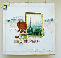 A Paris page I actually love from Sian of From High In The Sky.