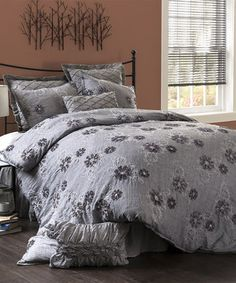 This sophisticated set brings a sense of classic style to bedroom décor. With floral embroidery and faux silk fabric, this comforter is sure to create a cozy atmosphere ready for rest and relaxation.