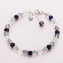 Fluorite Healing Bracelet #Bracelet #Fluorite #Healing #Gemstone #Sterling #Heart #Ladies #Girls #Alternativemedicine