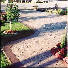 Stamped Concrete - for our patio someday!
