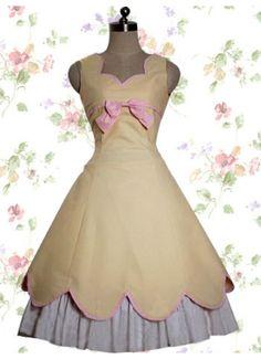 Wonderful Yellow Cotton Lolita Dress