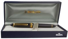 Sailor 1911 Mid-Size Black Gold Burgundy And Gold, Black Gold, Sailor Pens, Fountain Pen Ink, Pen Pals, Stationary, Writing, Composition, Writing Process