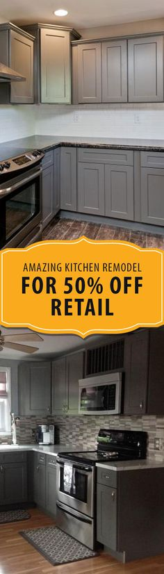 Single Mom Creates Amazing DIY Kitchen Remodel achieved for 50% off retail....and without hiring a contractor. Erica Suffoletto is a single mom raising a son, so she's always looking for ways to complete projects herself, while being able to keep expenses low....