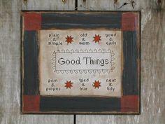 Good Things - cross stitch pattern from Notforgotten Farm. $8.00, via Etsy.