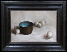 Still Life Paintings by Justin Hess, White Paintings, Still Life Paintings, Paintings of Onions. I like the change here, still life is so often dark backgrounds.