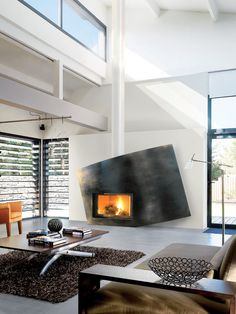 Funky modern fireplace