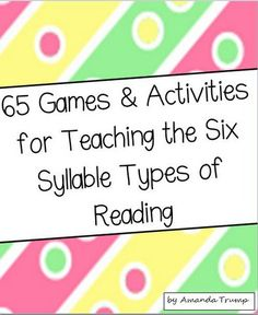 The bundle packet includes 75 games and activities that all target teaching the… Reading Resources, Reading Strategies, Reading Activities, Teaching Reading, Teaching Tools, Student Learning, Teacher Resources, Teaching Ideas, Primary Teaching