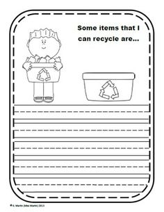 Earth Day Writing Prompts - I Love Our Earth! Kindergarten Writing Prompts, 1st Grade Writing, Work On Writing, Creative Writing Prompts, Teaching Writing, Teaching Science, Writing Activities, Science Activities, Kindergarten Activities
