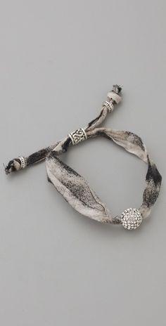 Pave fabric bracelet