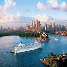 Crystal Cruise ship in Sydney Australia Is most commonly referred to as Crystal Cruises, a Japanese luxury cruise line. Readers of Condé Nast Traveler have voted the line Best Midsize Cruise Ship Line. Places Around The World, The Places Youll Go, Travel Around The World, Places To See, Around The Worlds, Wonderful Places, Beautiful Places, Beautiful Sunset, Amazing Places