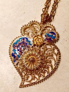 Bonito collar con réplica de corazón de Viana por LasJoyitasDeMarie
