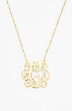 Argento+Vivo+Initial+Pendant+Necklace+available+at+#Nordstrom