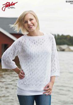 Strikket trøje fra JärboGarn: http://media.jarbo.se/patterns/pdf/91068_low.pdf