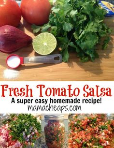 Look no farther for a fresh taste of summer! Cilantro and tomatoes explode in happy unison for this Fresh Tomato Salsa Recipe!