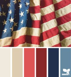 memorial day hues, 4th of July color palette, Independence Day, patriot, modern July 4th