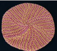 Free loom knitting patterns like the Pinwheel Dishcloth are both fun to make and useful around the house.  To make this beautiful dishcloth, you will need a 17 peg round knitting loom.