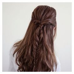Half up twist fishtail braid creative hairstyles, cute hairstyles, braided hair Box Braids Hairstyles, Latest Hairstyles, Wedding Hairstyles, Quinceanera Hairstyles, Creative Hairstyles, Updo Hairstyle, Wedding Updo, Hairstyle Ideas, Buy Hair Extensions