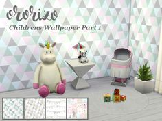 Sims 4 CC's - The Best: Children Wallpapers by Ororizo