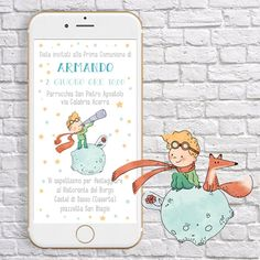 Digital Invitations, Party Invitations, First Birthday Parties, First Birthdays, Giraffe, Elephant, Invite Friends, The Little Prince, Party Kit