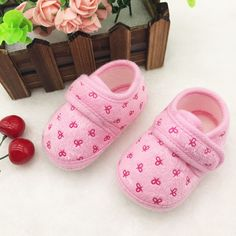 New Cute Newborn Infants Kids Baby Shoes Boys Girls Cozy Cotton Soft Soled Crib Shoes First Walkers