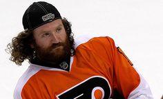 Scott Hartnell with a beauty playoff beard & flow!
