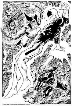 X-Men Vs Weapon Alpha (Guardian) commission by John Byrne. 2006.