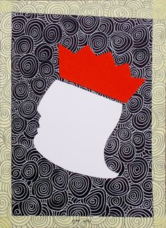 """andrea mattiello """"... non ti curar di loro"""" pennarello e collage su cartoncino cm 25x35; 2013 #art #arte #contemporanea #disegno #drawing #collage #paper #artista #emergente"""