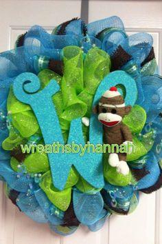 Baby Boy Wreath, custom!