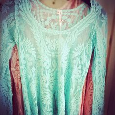 Mint lace top $36. #thisisboise #thethreadedzebra #shopping #boise #eagle More at: http://instagram.com/p/iMhNLhHLef/